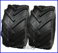 2 (paire) 18x9.50-8 Pneus industriels à crampons à centre ouvert pour motobi