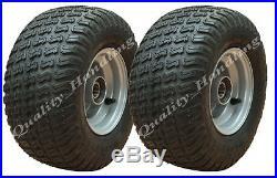 2 pneu type gazon 13x6.50-6 sur jante pour quad, tondeuse autoportée, chariot