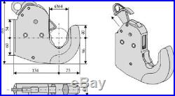 2er Set Unterlenker Crochet D'Arrêt Kat. 3 Cbm Raccord Rapide Jusqu'à 206 Kw /