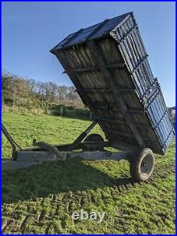 4 Tonnes Ferme Basculant Remorque Pour Équestre Usage Ou Petit Support Tracteur