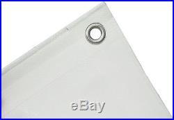 Abdeckplane Gewebeplane 140g/m² blanc 10x20m Bache de bateau Bâche de protection