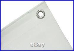Abdeckplane Gewebeplane 180g/m² 10x15m blanc Bache de bateau Bâche de protection