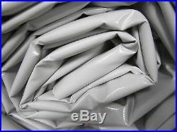 Abdeckplane PVC Film Environ 6.50 X 4.90 M en 660 Taille / M ² Gris 21 kg