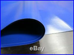 Abdeckplane PVC Film Environ 8.00 x 4.95 M en 680 Taille / ² Bleu 28 Camion