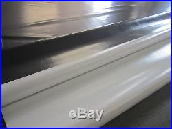 Abdeckplane PVC Film ca 8.25 x 3.20 m en 670 gr/m² Gris/Blanc 17.8