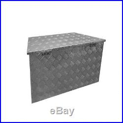 Caisse d'aluminium avec clé Kit de bricolage Alubox Deichselbox Boîte remorque