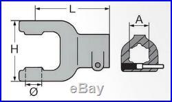 Cardan / Cheville Arbre 1.210 mm à Deux Faces 1 6Z