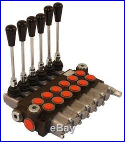 Distributeur 40 l/min hydraulique manuel monobloc de 1 à 7 fonctions 2 4