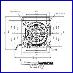 Drehadapter Platine Vinyle Convient à Siège de Tracteur Grammer Maximo Actimo