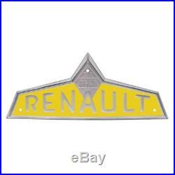 Emblème frontal jaune pour Renault-Claas D22
