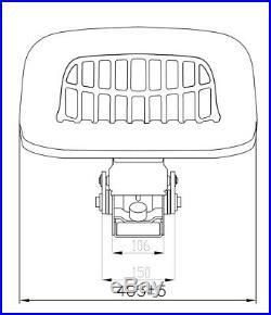 Ford Neuf Holland Siège de Tracteur 2000 2600 3000 3600 4000 4600 Convient À