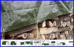 Gewebeplane 10x12meter Bache Bâche de protection pour bois 10X12M Cheminée