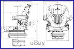Grammer Compacto Confort M Msg93/521 Siège de Tracteur Siège de Tracteur