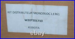 Kit distributeur hydraulique auxiliaire 2 double effet KUBOTA pour L1361 neuf