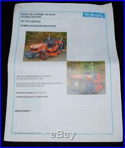 Kit éclairage homologation route KUBOTA G23 G26 LD / HD W20TS00977 neuf