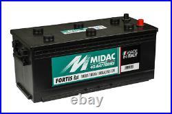 Midac Fortis 180BS 12V 180AH Une Pour Camion Autobus Bâtiment & Landw. Traktoren