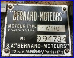 Moteur BERNARD W110 avec embrayage