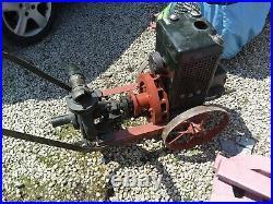 Moteur bernard w0 et sa pompe en état ancien moteur et pompe de pompier a voir