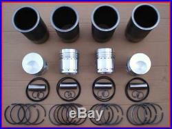 Mtz 50 52 Biélorussie Piston + Gaine + Segments de + Boulon (Kit Cylindre)
