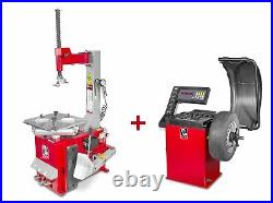 Pack démonte-pneu BT100 3x380V et équilibreuse de roues BB200 220V MW-Tools BT1