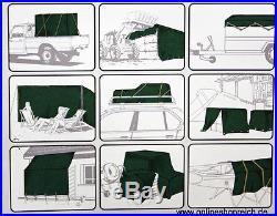 Plan De Camion PVC Abdeckplane Avion bois 650 gr/m² 3,5 x 6,0 m vert Neuf