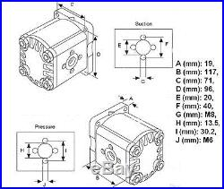 Pompe hydraulique tracteur FIAT SOMECA Serie Classique 1000, 1000 Sup, 1000DT