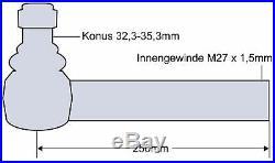 Rotule Tête Sphérique pour Massey Ferguson Mf 8270 8280 8470 8480