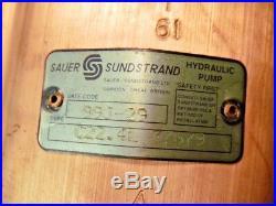 Sauer Sundstrand C22.4L 37679 Aluminium Corps Pompe Hydraulique