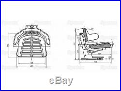 Siege De Tracteur Multi-Positions Suspension Mécanique Jaune