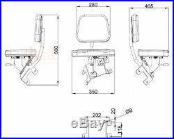 Siège Du Passager Kubota M100 PVC Marron Remorqueur Tracteur Auxiliaire