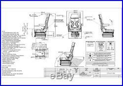 Siège de TRACTEUR PVC chariot élévateur baggersitz Valse Mini pelle cs85h/90ar