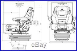 Siège de Tracteur Grammer Maximo Evolution Dynamic MSG95EL/741 Tissu Neuf
