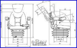 Siège de Tracteur Machine Construction Chariot Élévateur RM62 210 PVC Mécaniques