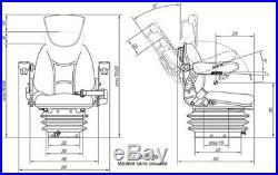 Siège de Tracteur Machine Construction Chariot Élévateur RM62 210N Pneumatique