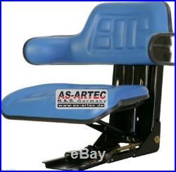 Siège de tracteur bleu, siège monté sur ressort FORD 4000 5000