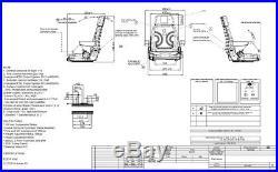 Siège de tracteur chariot élévateur sitzoberteil COMPLET convient à Gammer S85 /